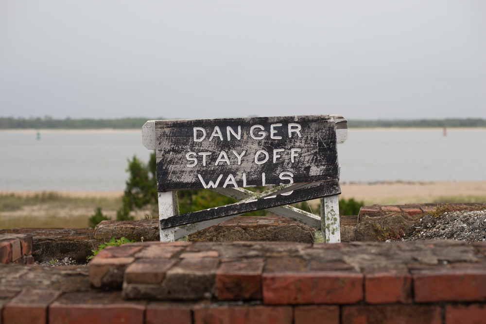 Sign at Fort Clinch